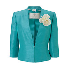 Buy Jacques Vert Petite Edge To Edge Jacket, Mid Blue Online at johnlewis.com