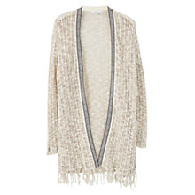 Buy Violeta by Mango Openwork Cardigan, Light Pastel Brown Online at johnlewis.com
