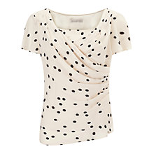 Buy Jacques Vert Wrap Front Blouse, Neutral/Black Online at johnlewis.com