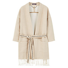 Buy Vioeta by Mango Textured Jacket, Light Pastel Brown Online at johnlewis.com