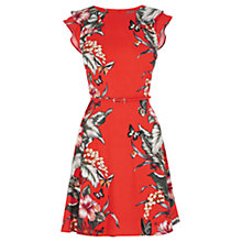 Buy Oasis Honolulu Placement Skater Dress, Coral Online at johnlewis.com