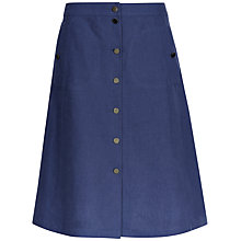 Buy Jaeger Linen A-Line Skirt, Indigo Online at johnlewis.com