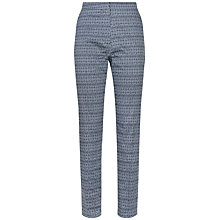 Buy Jaeger Diamond Ikat Trousers, Navy/Ivory Online at johnlewis.com