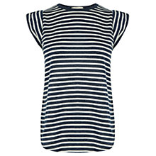 Buy Oasis Striped Crew Neck Shell Top, Multi Online at johnlewis.com