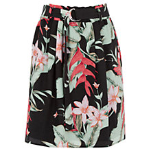 Buy Oasis Tropical Fancy Skirt, Multi/Black Online at johnlewis.com