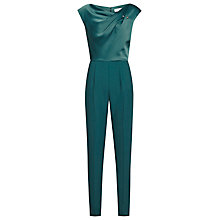 Buy Reiss Frenchie Shoulder Detail Jumpsuit, Kingfisher Online at johnlewis.com