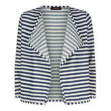 Buy Jaeger Texture Stripe Jacket, White/Blue Online at johnlewis.com