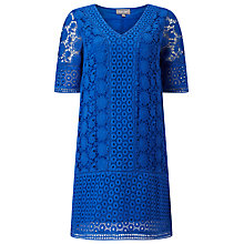 Buy Phase Eight Paloma Lace Dress, Azure Online at johnlewis.com