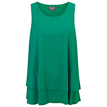 Buy Phase Eight Billi Double Layer Top, Emerald Online at johnlewis.com