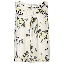 Buy Jacques Vert Floral Print Blouse, Light Neutral Online at johnlewis.com