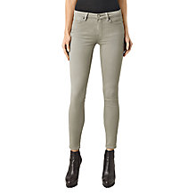 Buy AllSaints Mast Skinny Jeans, Light Khaki Online at johnlewis.com