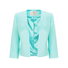 Buy Jacques Vert Petite Sateen Jacket, Light Blue Online at johnlewis.com