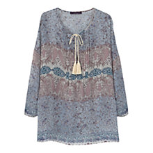Buy Violeta by Mnago Paisley Print Blouse, Pastel Pink Online at johnlewis.com