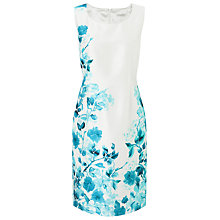 Buy Jacques Vert Petite Print Shift Dress, Mid Blue Online at johnlewis.com