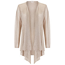Buy Jacques Vert Drape Metallic Cover Up, Gold Online at johnlewis.com