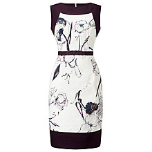 Buy Phase Eight Darcy Cotton Dress, White/Black Online at johnlewis.com