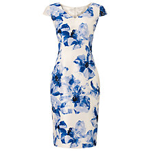 Buy Jacques Vert Summer Haze Print Dress, Blue Online at johnlewis.com