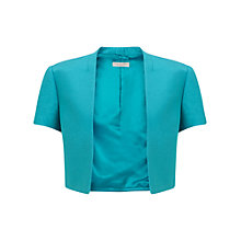 Buy Jacques Vert Petite Shimmer Bolero, Mid Blue Online at johnlewis.com