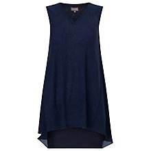 Buy Phase Eight Camille Top, Navy Online at johnlewis.com