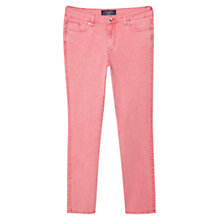 Buy Violeta by Mango Straight Cotton Trousers, Pink Online at johnlewis.com
