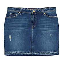 Buy Violeta by Mango Medium Denim Skirt, Open Blue Online at johnlewis.com
