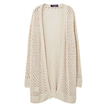 Buy Violeta by Mango Openwork Cardigan, Sand Online at johnlewis.com