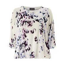 Buy Phase Eight Florin Top, Purple/White Online at johnlewis.com