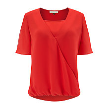 Buy Jacques Vert Wrap Front Blouse, Red Online at johnlewis.com