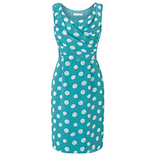 Buy Jacques Vert Petite Soft Spot Dress, Blue Online at johnlewis.com