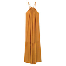 Buy Violeta by Mango Flowy Long Dress, Medium Yellow Online at johnlewis.com