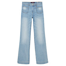 Buy Violeta by Mango Flared Selena Jeans, Open Blue Online at johnlewis.com