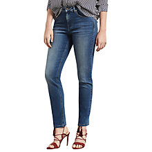 Buy Violeta by Mango Theresa Straight Jeans, Open Blue Online at johnlewis.com