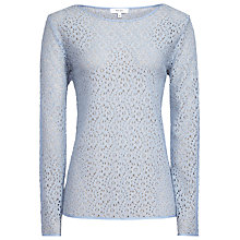 Buy Reiss Jane Lace Top, Sky Online at johnlewis.com