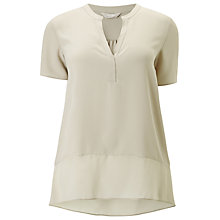 Buy Windsmoor Truffle Textured Sheer Mix Top, Mid Neutral Online at johnlewis.com