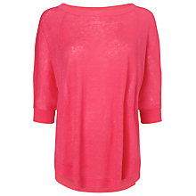 Buy Phase Eight Sienna Linen Poncho, Popsicle Online at johnlewis.com