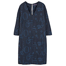 Buy Violeta by Mango Textured Jacquard Dress, Navy Online at johnlewis.com