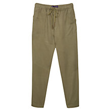 Buy Violeta by Mango Baggy Soft Trousers, Medium Green Online at johnlewis.com