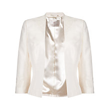 Buy Jacques Vert Lace Border Jacket, Ivory Online at johnlewis.com