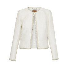Buy Ted Baker Yulisa Embellished Collarless Jacket, Ivory Online at johnlewis.com
