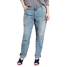 Buy Violeta by Mango Girlfriend Laura Jeans, Open Blue Online at johnlewis.com