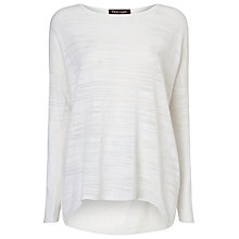 Buy Phase Eight Elen Slub Ellipse Jumper, White Online at johnlewis.com