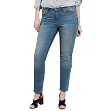 Buy Violeta by Mango Susan Slim Fit Jeans, Open Blue Online at johnlewis.com