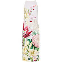 Buy Ted Baker Julee Encyclopaedia Floral Midi Dress, Nude Pink Online at johnlewis.com