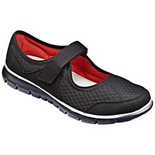 Buy Hotter Hover Mary Jane Trainers, Black Online at johnlewis.com