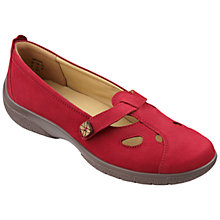 Buy Hotter Nirvana T-Bar Pumps, Crimson Online at johnlewis.com
