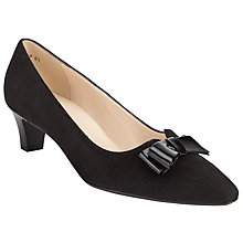 Buy Peter Kaiser Edeltraud Bow Pointed Toe Court Shoes, Black Online at johnlewis.com
