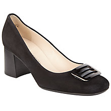 Buy Peter Kaiser Parme Square Toe Buckle Court Shoes, Black Online at johnlewis.com