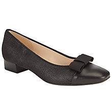 Buy Peter Kaiser Nancie Square Toe Pumps, Black Online at johnlewis.com