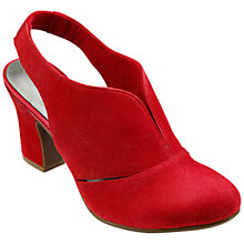 Buy Hotter Christie Block Heeled Sling Back Court Shoes, Red Suede Online at johnlewis.com