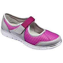 Buy Hotter Hover Mary Jane Trainers, Mulberry/Pebble Grey Online at johnlewis.com